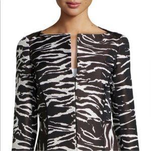 Lafayette 148 New York Zebra Print Blazer 10